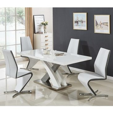 axara small extending table set white grey gia-min